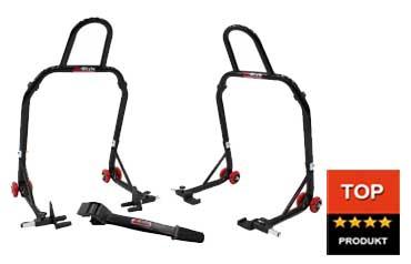 M-Style stojan přední a zadní set a kartáč na řetěz