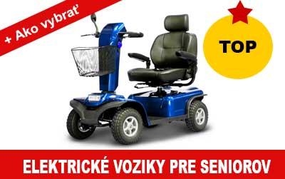 Elektrický vozík pre seniorov