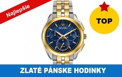 Zlaté pánske hodinky od 300 do 700 eur