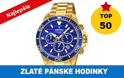 Pánske zlaté hodinky